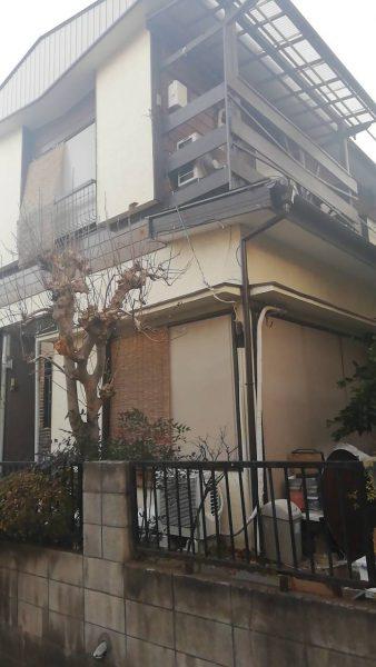 富士見市鶴瀬東 解体工事を行いました。