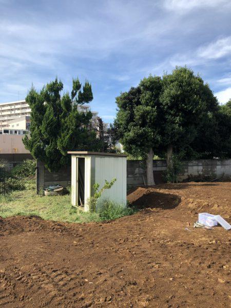 さいたま市北区本郷町の外構・植栽撤去工事を行いました。