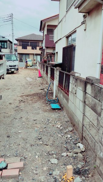 川越市宮元町のブロック撤去工事を行いました。