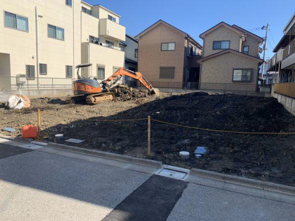蕨市塚越 地中埋設物解体工事を行いました。