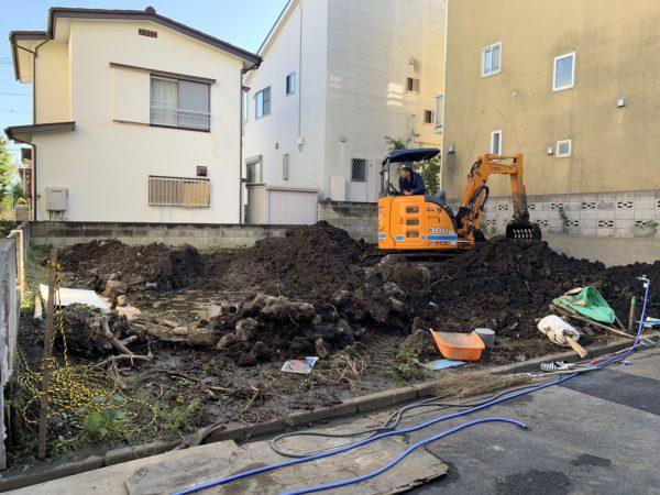 さいたま市南区太田窪 地中解体工事を行いました。