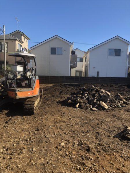 小平市上水南町 地中埋設物撤去工事を行いました。
