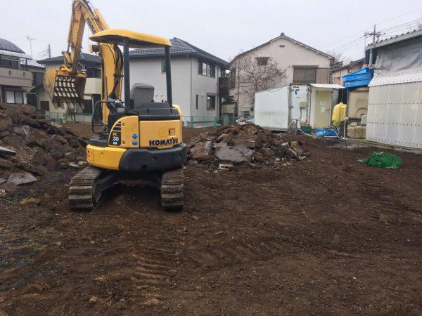 所沢市中新井 地中解体工事を行いました。