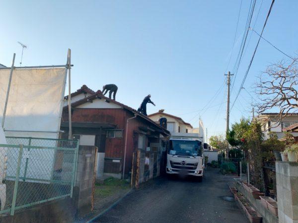 飯能市岩沢 解体工事を行いました。