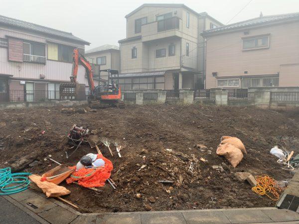 草加市瀬崎 地中埋設撤去解体工事を行いました。