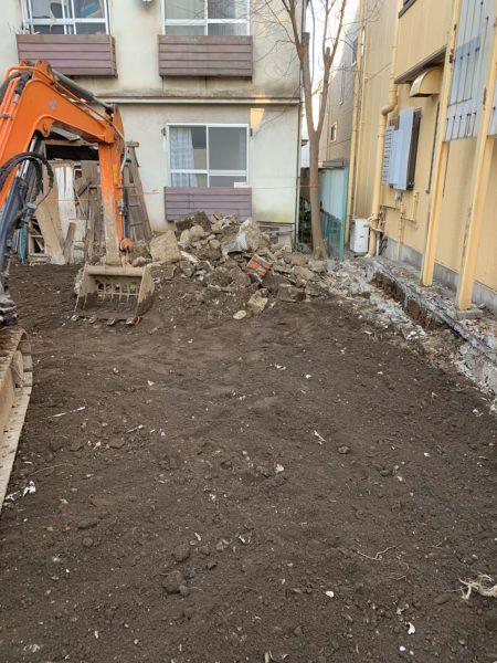 文京区千石 地中埋設物撤去工事を行いました。