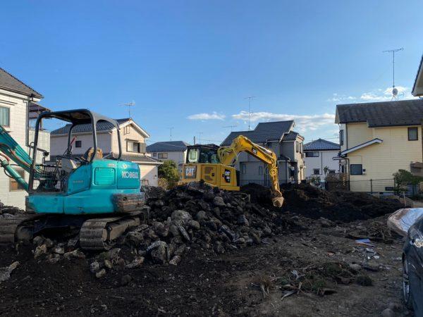 あきる野市引田 地中解体工事を行いました。