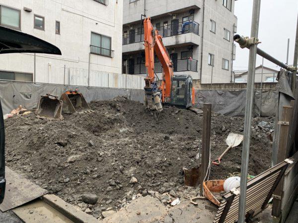 江戸川区中央 追加地中埋設物撤去工事を行いました。