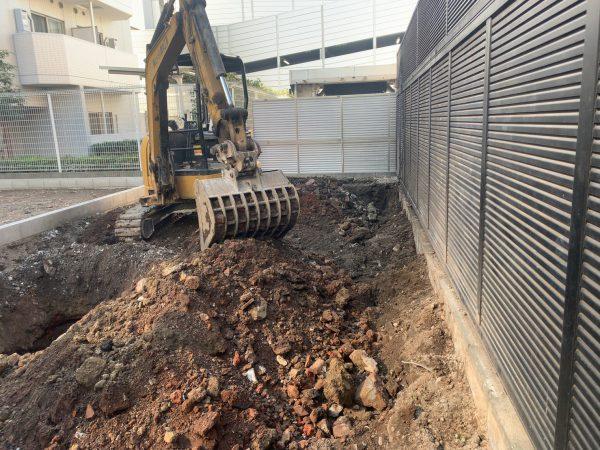 江東区毛利 地中解体工事を行いました。