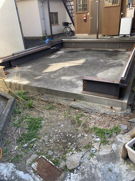 葛飾区東新小岩 基礎解体工事を行いました。