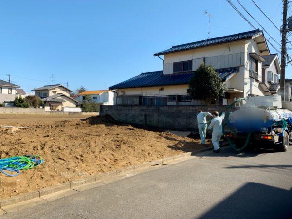 市川市国分 浄化槽撤去工事を行いました。