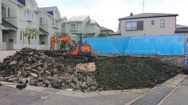 市川市東菅野 地中埋設物撤去工事を行いました。