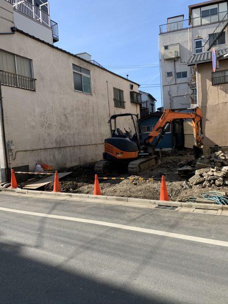 墨田区東向島 地中埋設物撤去工事を行いました。