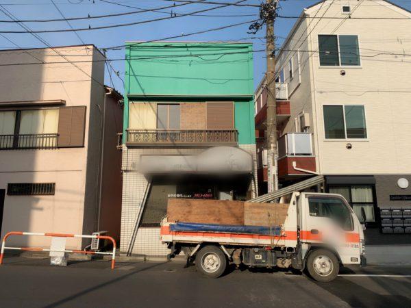 足立区新田 解体工事を行いました。