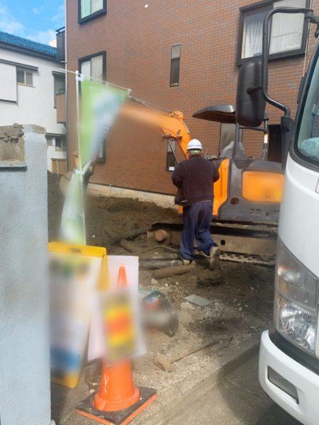 江戸川区船堀 地中埋設物撤去工事を行いました。