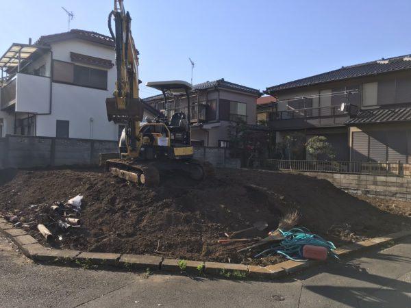 和光市白子 地中埋設物撤去工事を行いました。