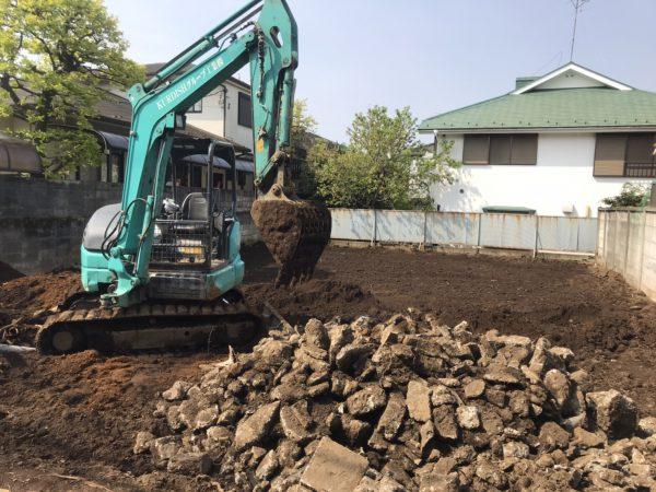 杉並区阿佐谷北 地中埋設物撤去工事を行いました。