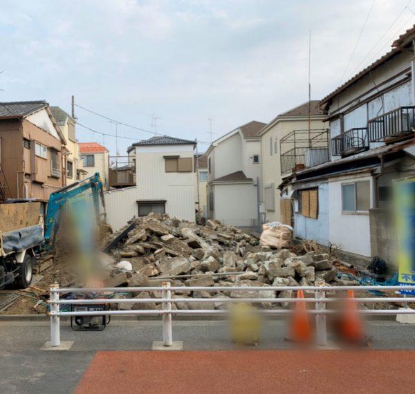 葛飾区西亀有 地中埋設物撤去工事を行いました。