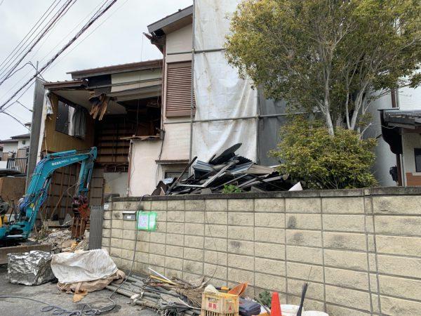 市川市田尻 解体工事を行いました。