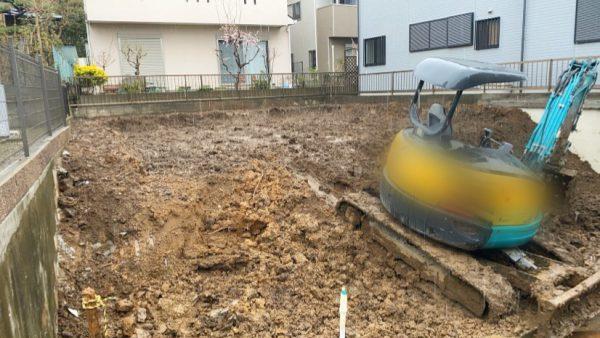 船橋市飯山満町 地中埋設物撤去工事を行いました。
