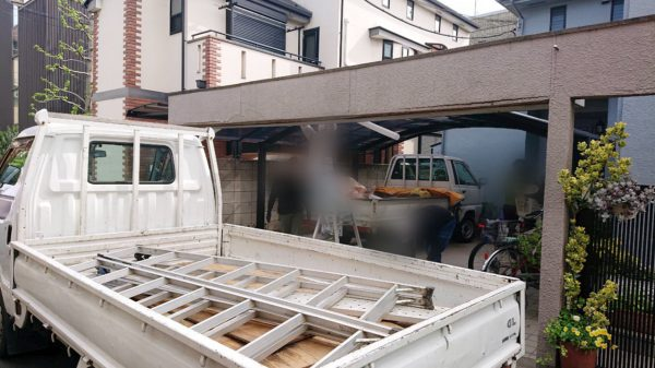 世田谷区桜が丘  門・シャッター撤去工事を行いました。