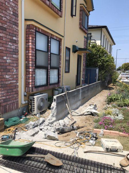 稲城市矢野口 擁壁撤去工事を行いました。