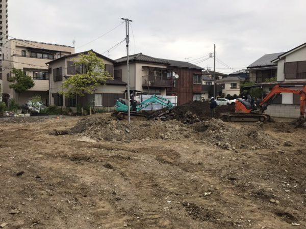 川口市元郷 地中埋設物撤去工事を行いました。