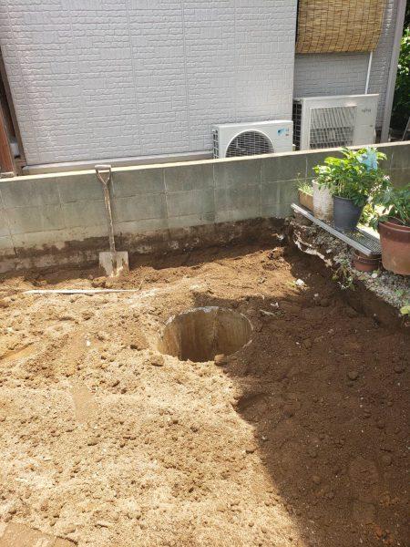 さいたま市緑区三室 井戸撤去工事を行いました。