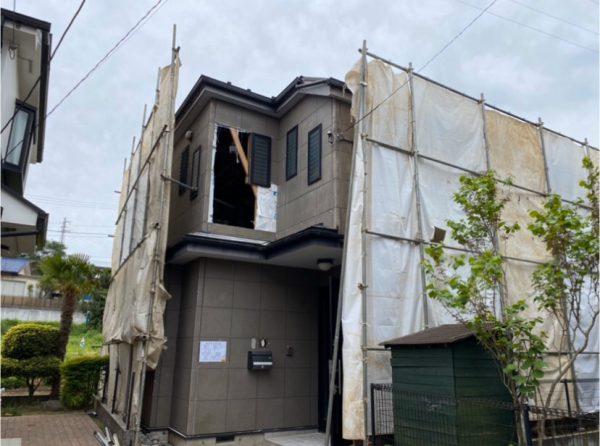 八王子市東中野 解体工事を行いました。