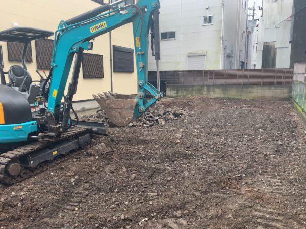 足立区梅田 地中埋設物撤去工事を行いました。
