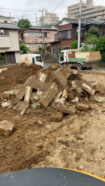 横浜市戸塚区戸塚町 外構撤去工事を行いました。