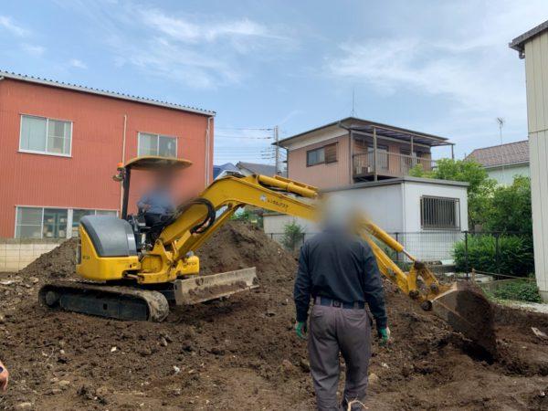 足立区南花畑 地中埋設撤去工事を行いました。