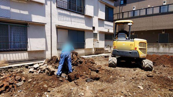 渋谷区猿楽町 地中埋設物撤去工事を行いました。
