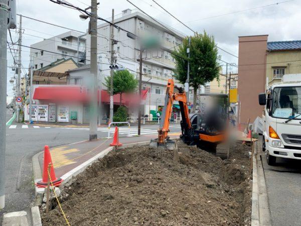 足立区千住中居町 地中埋設物撤去工事を行いました。