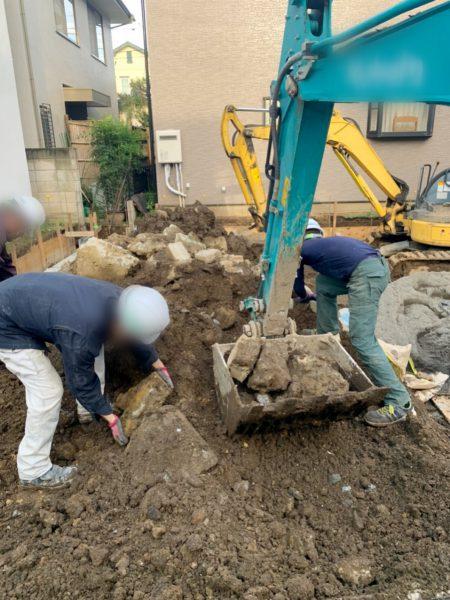 新座市石神 地中埋設物撤去工事を行いました。