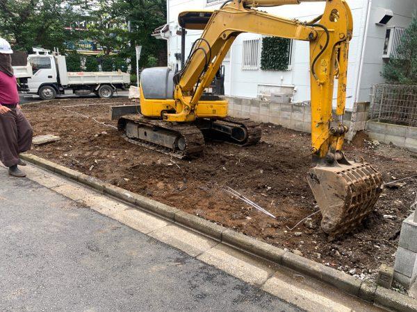 川口市柳崎 地中埋設撤去工事を行いました。