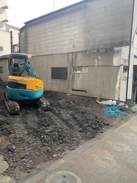 台東区千束 地中埋設撤去工事を行いました。