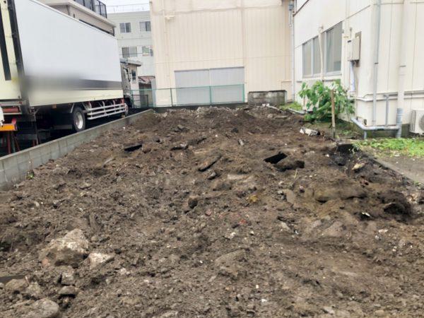 江東区枝川 地中埋設物撤去工事を行いました。