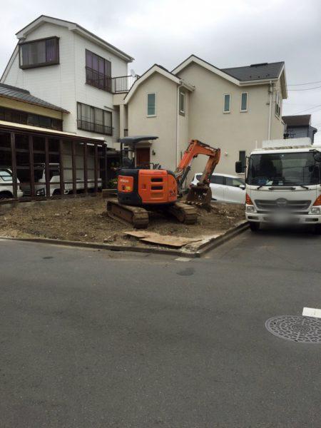 江戸川区東葛西 地中埋設物撤去を行いました。