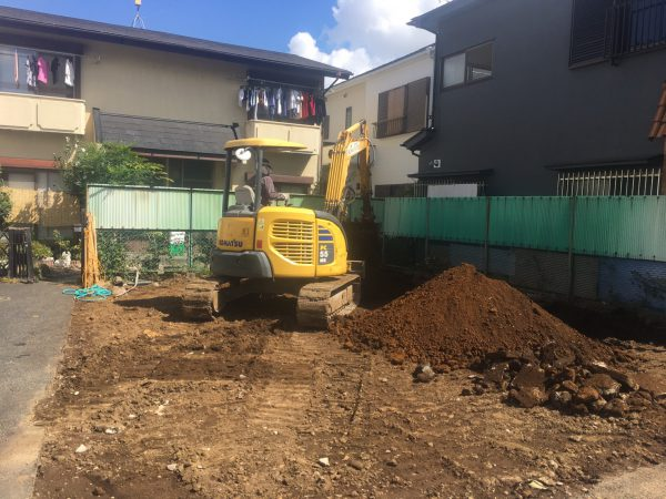 世田谷区松原 地中埋設物撤去を行いました。