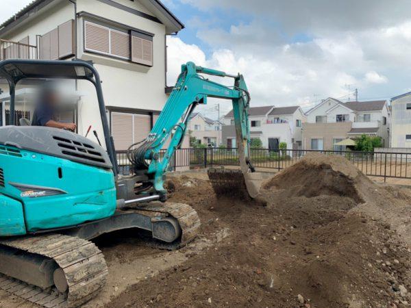 新座市野火止 地中埋設物撤去を行いました。