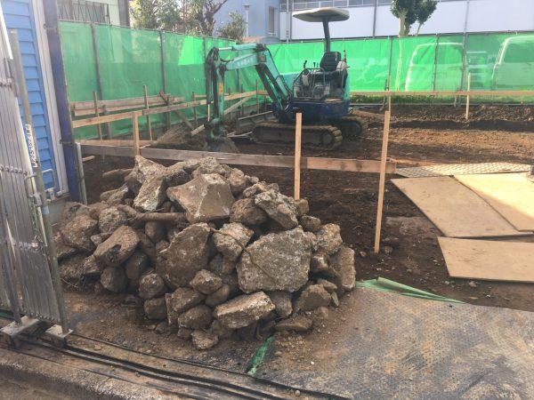 練馬区下石神井 埋設物撤去工事を行いました。