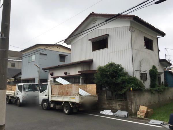 川口市中青木 解体工事を行いました。
