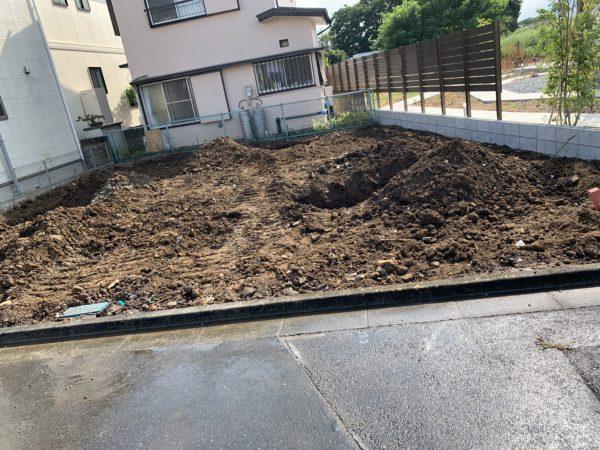 川越市鯨井 地中埋設物撤去を行いました。