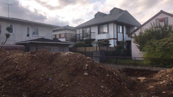 春日部市豊町 地中埋設物撤去を行いました。