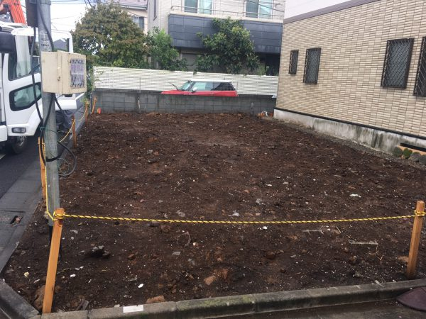 杉並区桃井 地中埋設物撤去を行いました