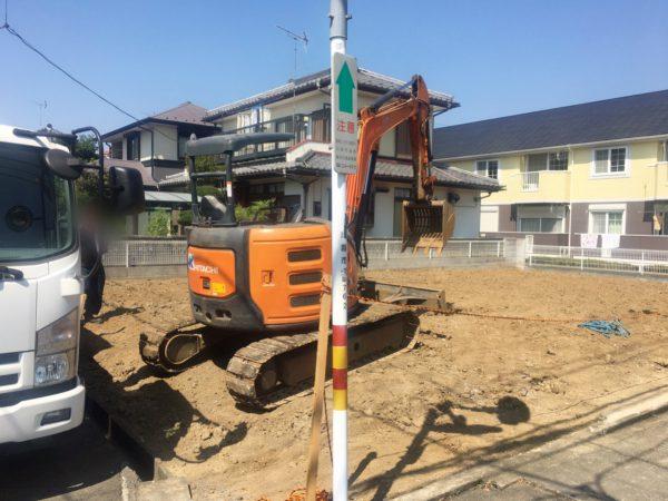 川越市神明町 地中埋設物撤去を行いました。