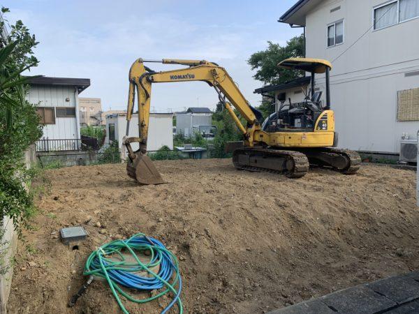 見沼区東宮下 地中埋設物撤去を行いました。