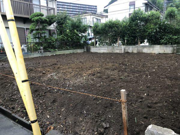 町田市南大谷 ブロック撤去工事を行いました。