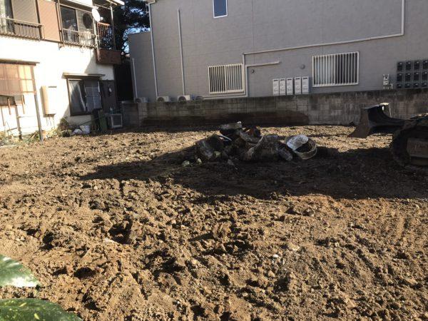 葛飾区柴又 地中埋設物撤去を行いました。